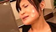 Japanese Newhalf Jerkoff Facial