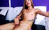 Slender Ladyboy Juicing On Cam